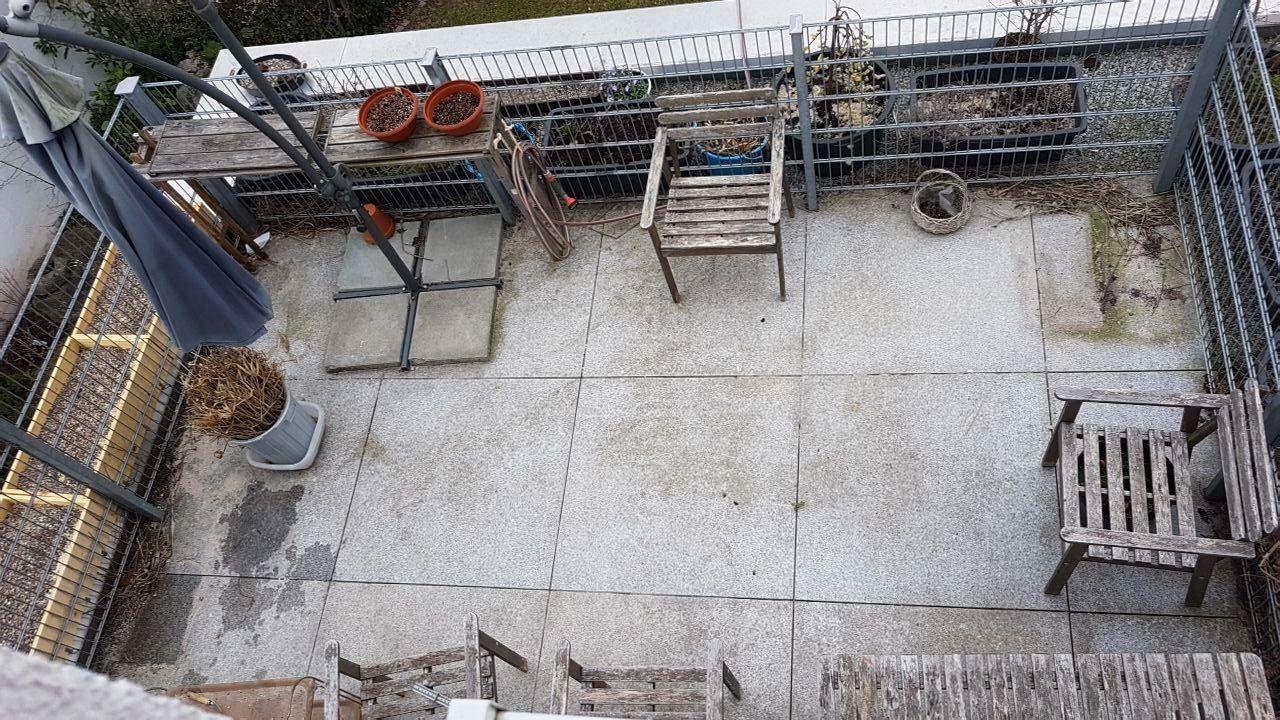 Aufnahme des Dachgartens von oben.